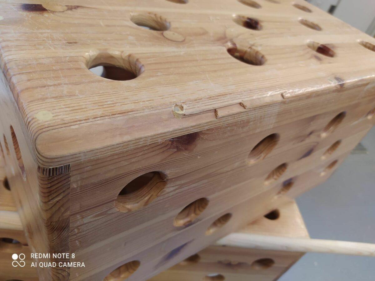 Část dřevěné dětské stavebnice