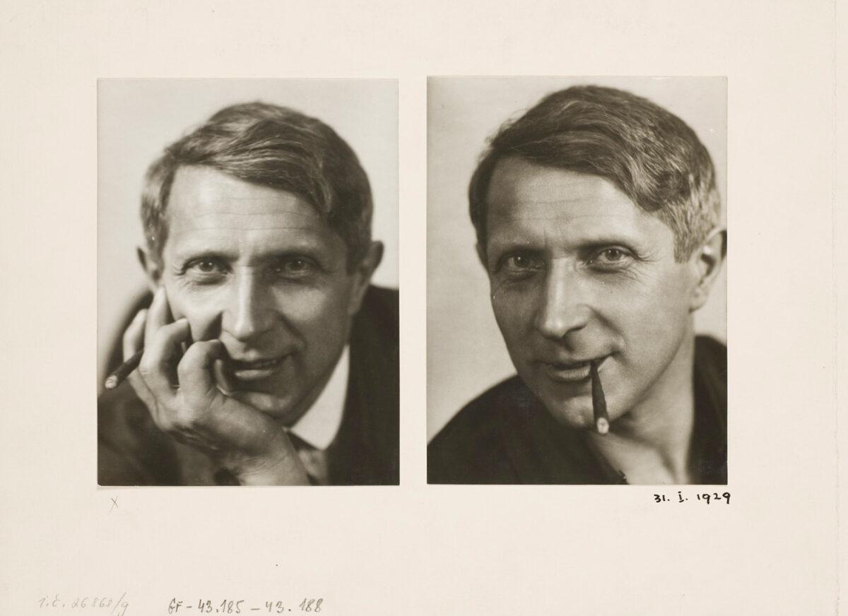 Dvě portrétní fotografa Františka Drtikola
