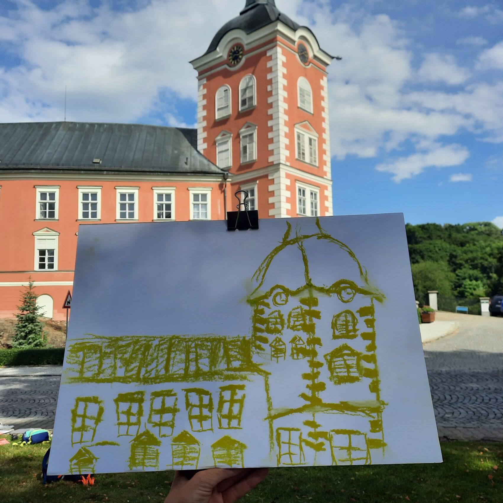 Zámek v Kamenici a obrázek zámku