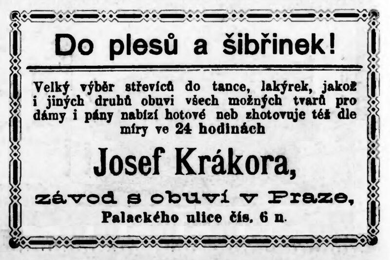 ZEMSKÁ JUBILEJNÍ VÝSTAVA 1891 A BOTKY JOSEFA KRÁKORY