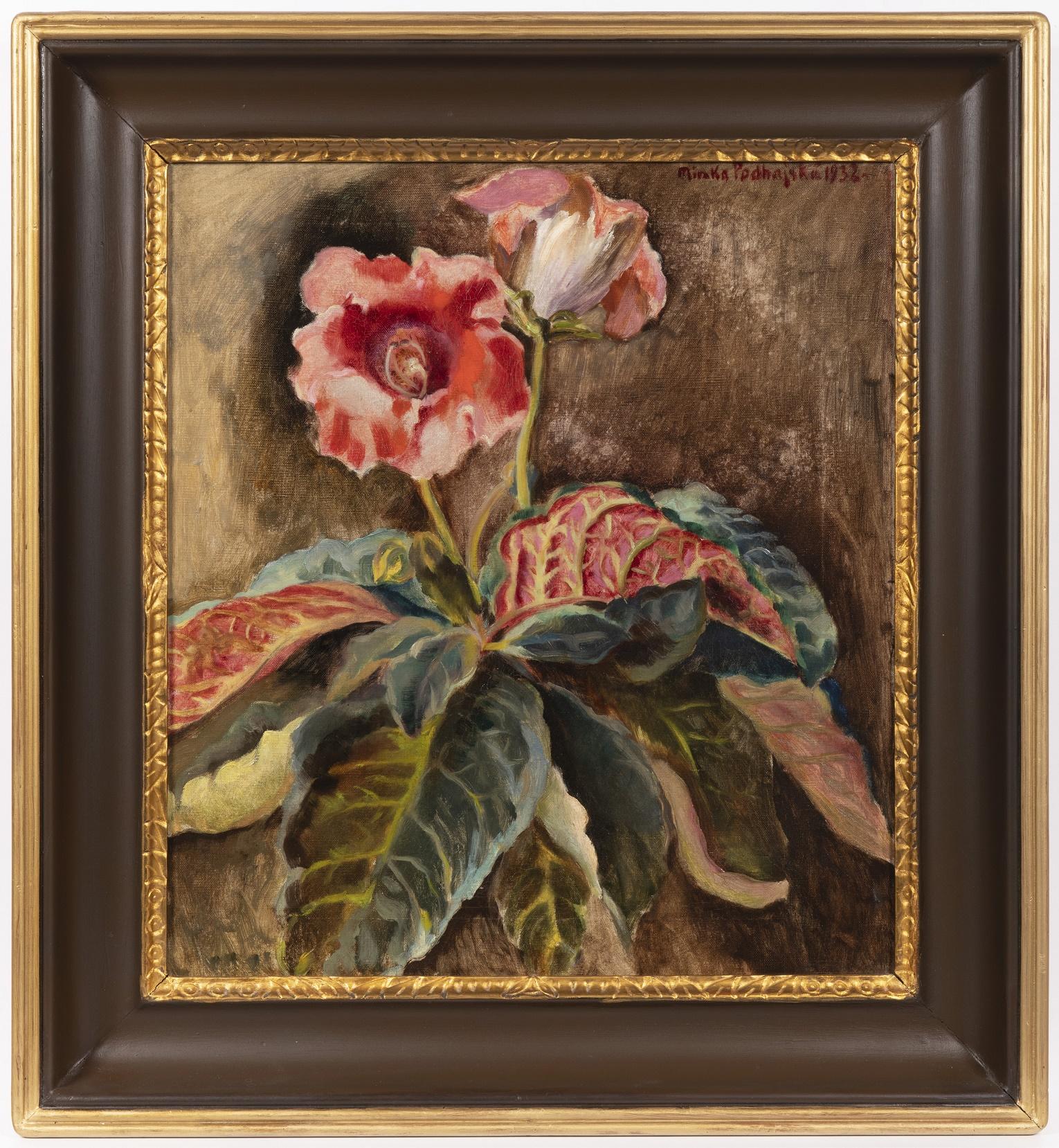 Realisticky vyvedená malba květin