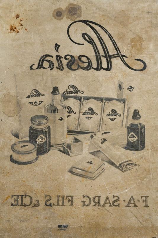 Litografický kámen z tiskárny Haase