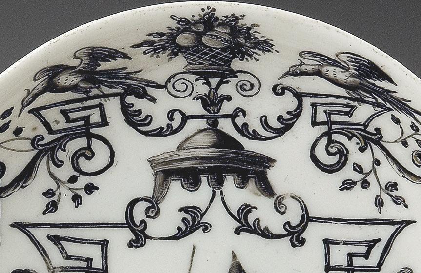 Detaol malby na porcelánu - ptáčci