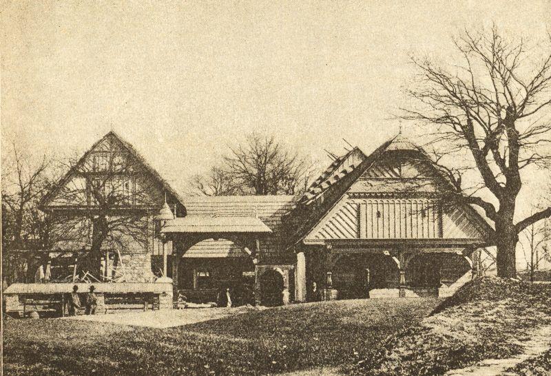Starý obrázek lidové stavby